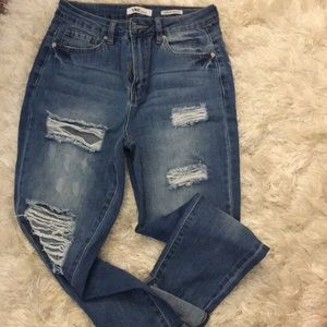 Denim - High rise ankle jeans